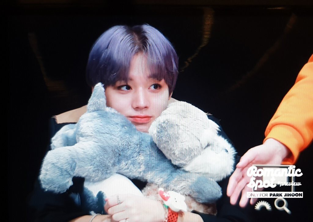 Criesss look at him hugging all the plushies + plus Max plushie ㅠㅠㅠㅠㅠㅠㅠ can I keep him in my pocket and protect from everything ㅠㅠㅠㅠㅠ    #박지훈<br>http://pic.twitter.com/RPOGsSX9eA