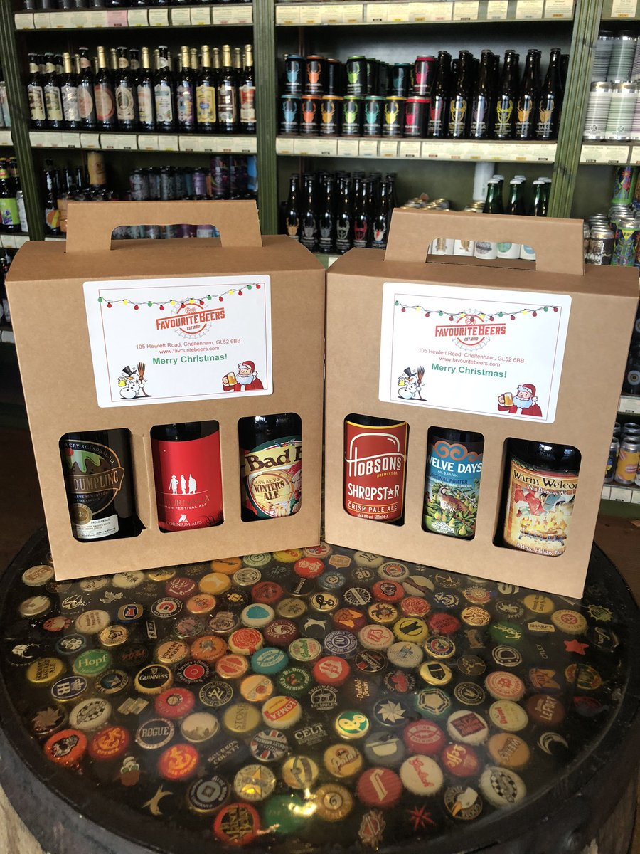 Stuck on Christmas Gift Ideas?  Here are a few that we have on offer.  Christmas Beer Gift Boxes, Local Beer Gift Boxes, Gloucestershire Beer Bags, local gin & whisky.  Plus plenty more to choose from!  #christmasgifts #giftideas #shoplocal #smallbusiness #independentbusiness pic.twitter.com/9fqfWvALMb
