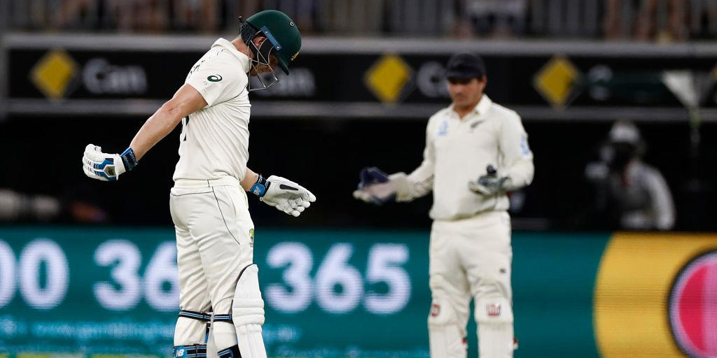 Steve Smith has now gone three Tests without passing 50.   This is the first time he's experienced such a streak in his Test career.  #AUSvNZ