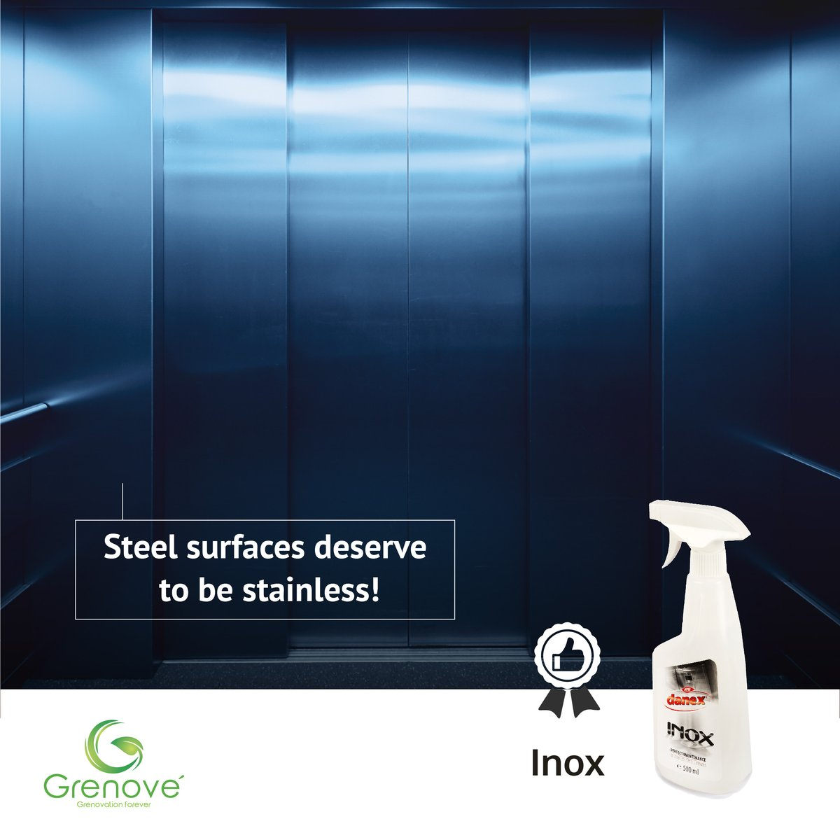 Clean, polish and protect stainless steel surfaces with Inox! #grenove #sustainablesolutions #ecofriendly #greenprojects #clean #cleanliness #cleaning  #contaminate #cleaningequipment #cleaningproducts #smartcleaning #cleansers #greenindiachallenge  #indianproducts #inoxpic.twitter.com/fZnn5SpmRA
