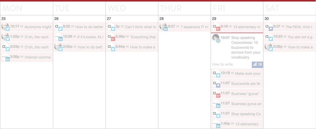 An editorial calendar is like a roadmap for content creation; it tells you what, where and when to publish and which personas you should be targeting. Read more: https://buff.ly/2GhBE1ZBy @wearearticulate#contentmarketing #copywriting