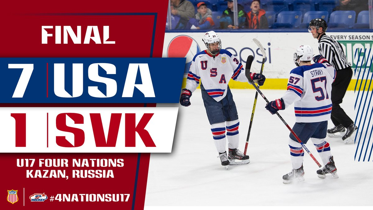 The U17s take down Slovakia 7-1! @jeremywilmer16 and @jjanicke8 (2) finished off scoring for the U17s! #4NationsU17