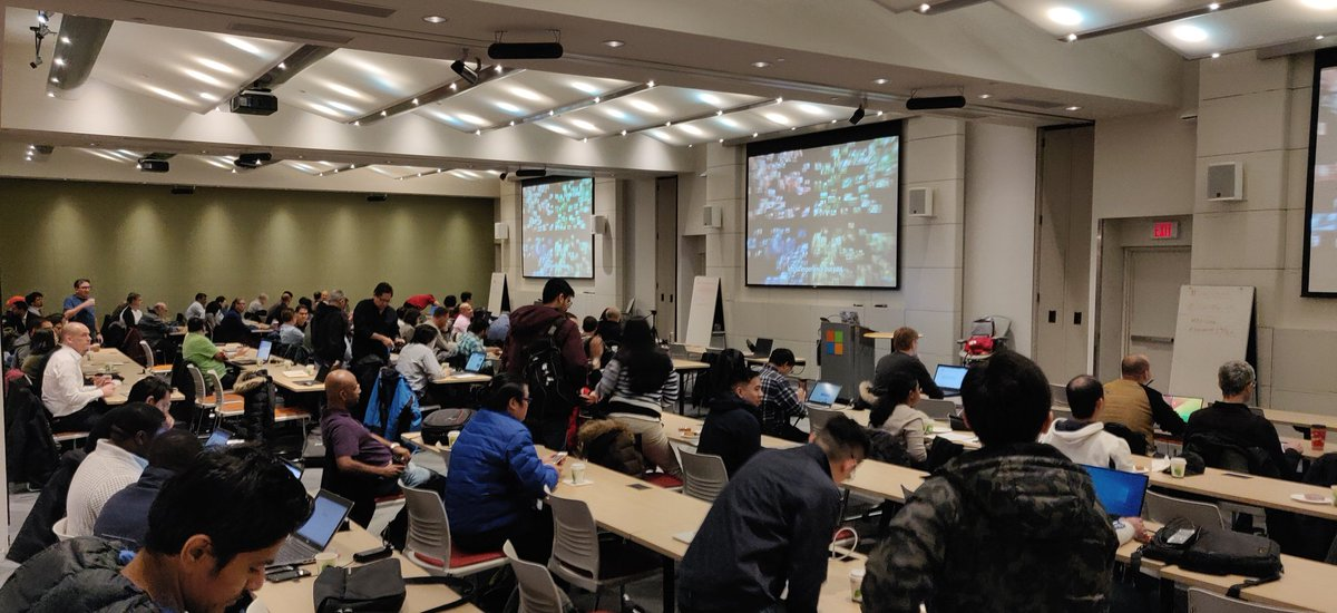 RT elbruno: We are getting ready to start our amazing #GlobalAIBootcamp event for the Greater Toronto Area. Full house, amazing speakers, great volunteers, an awesome agenda and so many cool attendees!And remember, come to talk to our AvanadeInc boot…