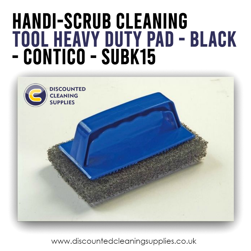 Handi-Scrub Cleaning Tool Heavy Duty Pad Black is part of the Caddy Clean range. --- http://bit.ly/35nIkET  #cleaningproducts #cleaningchemicalspic.twitter.com/FCuO4RKZlJ