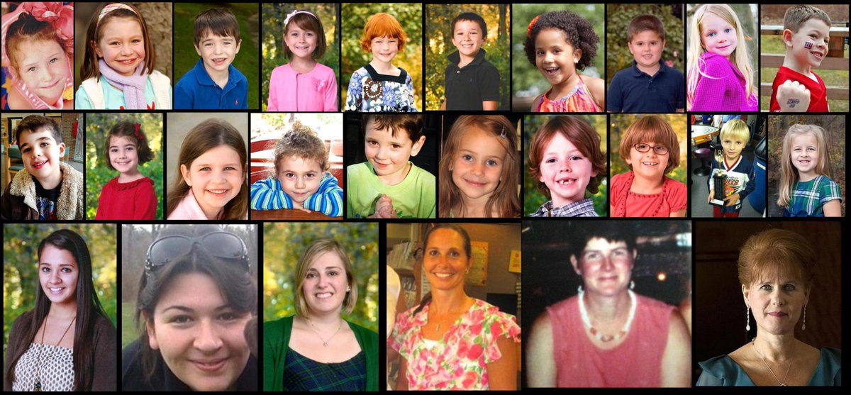 7 years ago today, a 20-year-old with a history of mental health problems killed his mother with her own gun then drove to Sandy Hook Elementary in Newtown, Connecticut, and fatally shot 20 students and 6 adults before killing himself. https://t.co/kP946SA6l3 https://t.co/wZvviiv9xR