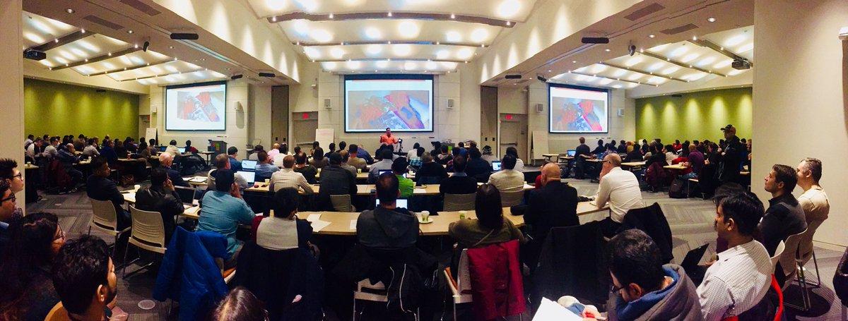 RT nomantoronto: #AI Keynote begins at #GlobalAIBootcamp with elbruno at microsoftcanada #GlobalAIBootcampTO