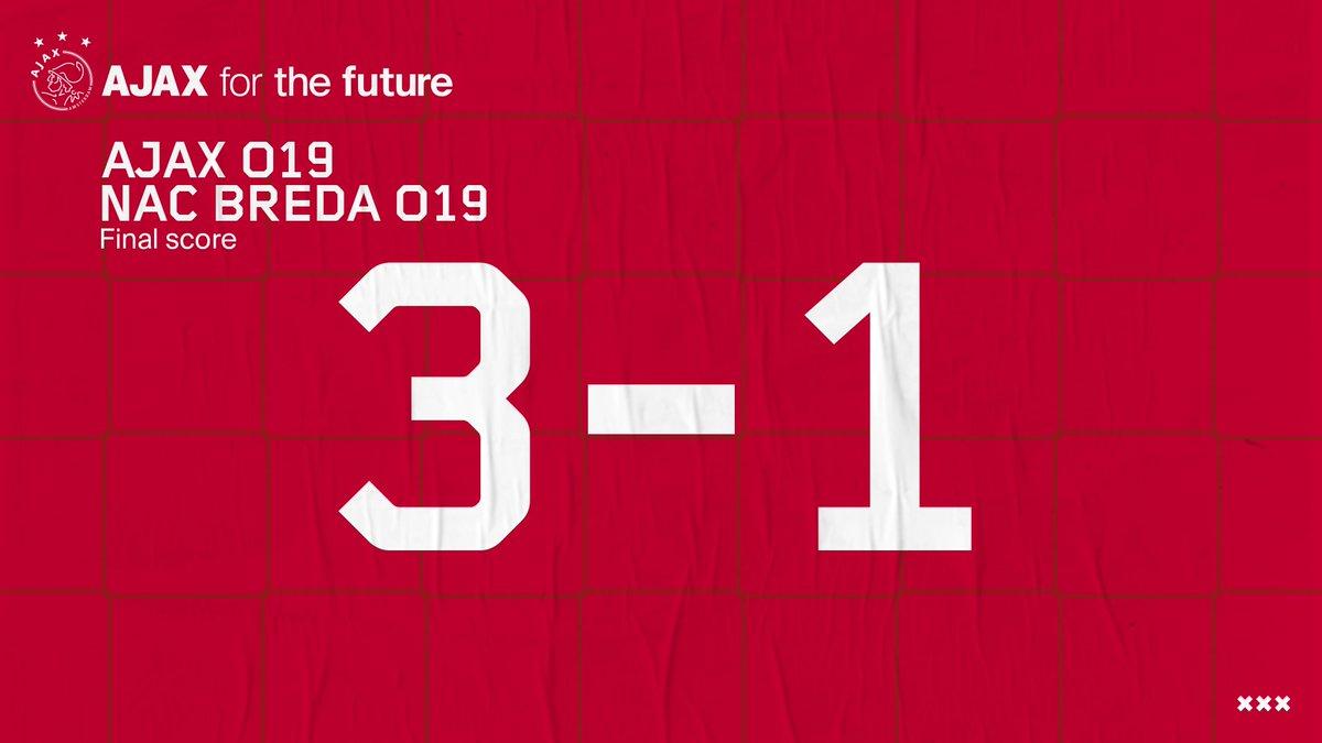 test Twitter Media - 90+4. De drie punten blijven in Amsterdam.🤝  Ajax O19 gaat met een overwinning de winterstop in. ❄️  #AjaxO19 https://t.co/yXJpSqM7PB