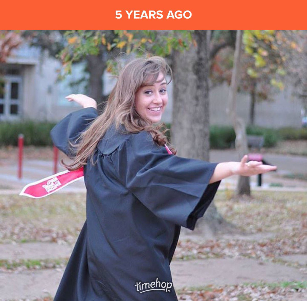 test Twitter Media - 5 years ago today... testing out the gown, seeing if it would twirl...   When I got sick, we gave up the dream of college. To get to attend classes, and later, to graduate?   Grace upon grace upon grace. 😭  #Lymedisease #GoCoogs 🐾♥️ https://t.co/w1tyRZzPGD