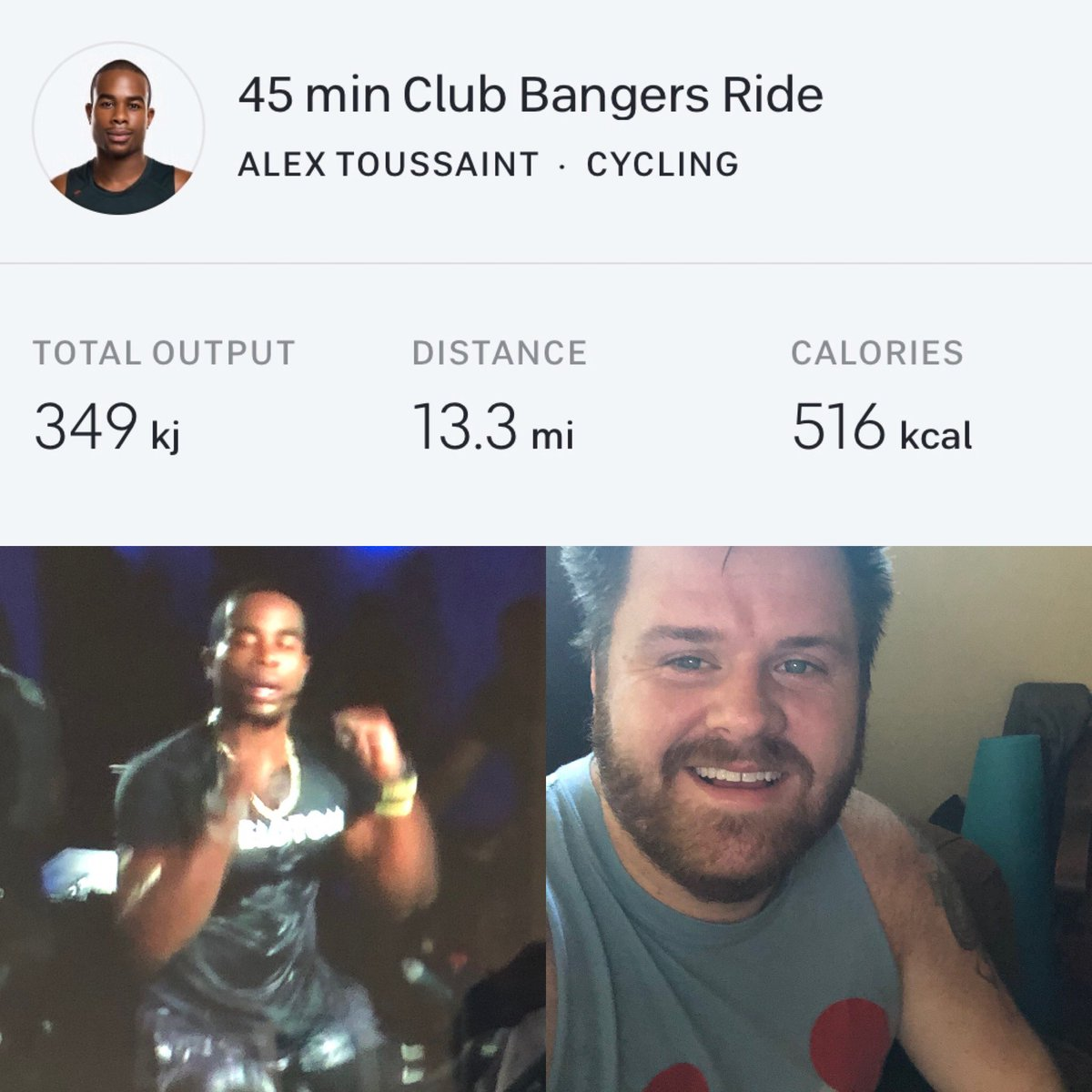 First Club Bangers ride this morning. May be my new favorite live ride. #Peloton