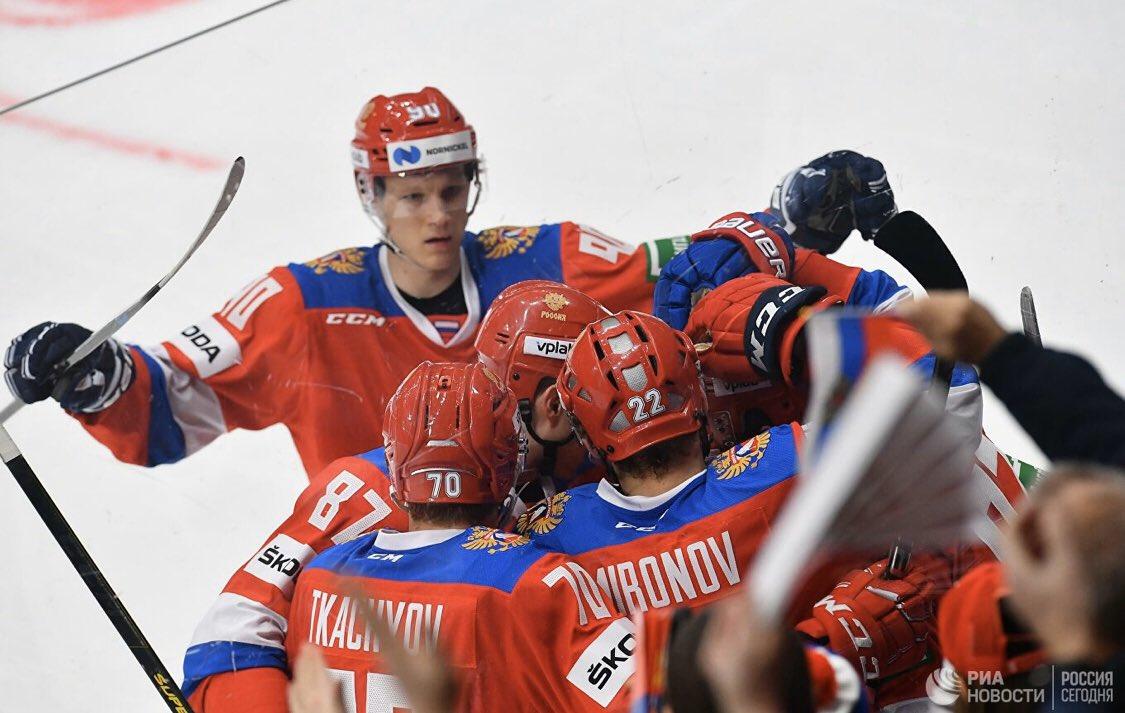спорт россия чехия хоккей счет годы