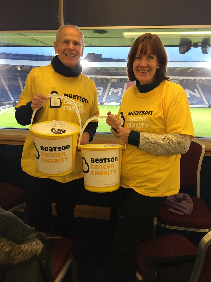 A huge @Beatson_Charity thank you to @queensparkfc for being so generous at today's Collection! #teambeatson 💛💛💛