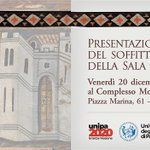 Image for the Tweet beginning: #UniPa presenta il soffitto trecentesco