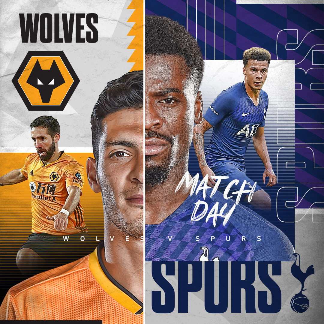 ✨ MATCHDAY! ✨  🆚 @Wolves 🏟️ Molineux Stadium 🏆 @premierleague ⏱️ 2pm (UK)  #THFC ⚪️ #COYS https://t.co/MZDyu2MonK