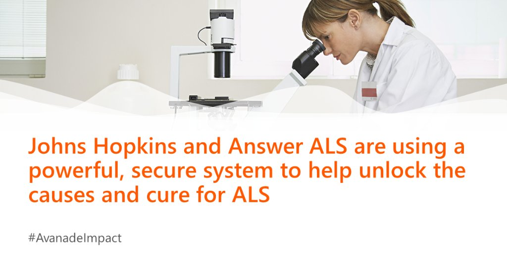 .JohnsHopkins and AnswerALS are leveraging #AI to discover new insights and treatment options for #ALS. Find out how AvanadeInc and Azure are helping: https://avana.de/2P6OSSS #AvanadeImpact