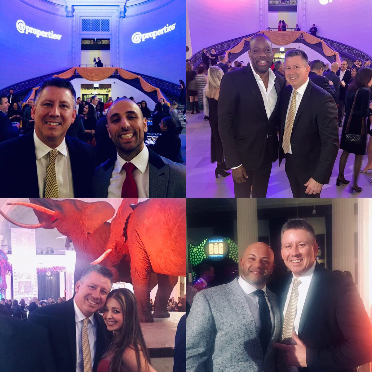Celebrating with a few thousand friends at @properties Holiday Party at the Field Museum.  Great seeing you all.  Peace & prosperity in 2020!  Thank you Mike & Thad for another outstanding event!   #atproperties #holiday #party #fieldmuseum #chicago #lovewhereyouwork