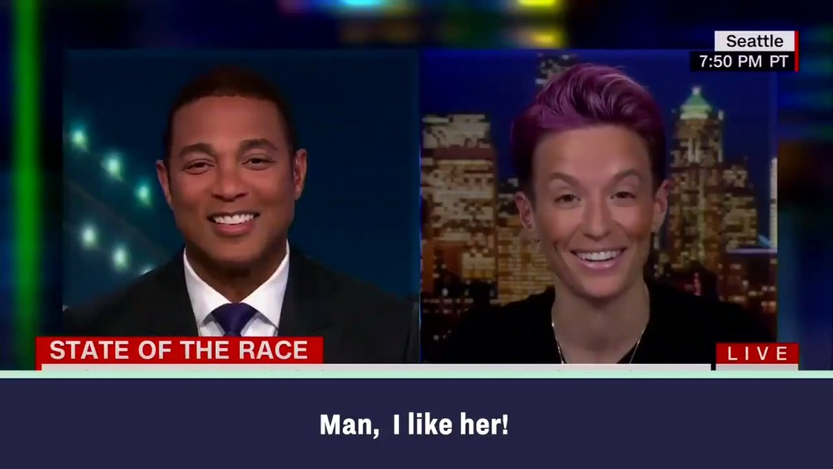 Humbled and grateful to hear @mPinoe speak with @DonLemon about why she's on @TeamWarren. We'll fight for the big, bold change we need together!