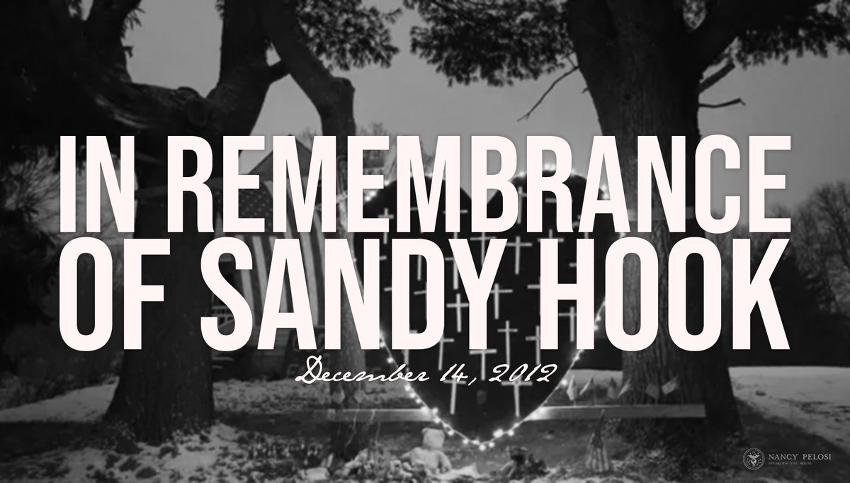 It has been seven years since the tragic shooting at #SandyHook Elementary School. Today, we continue to grieve, and we remain inspired by the courageous action of so many to stop the epidemic of gun violence that is shattering American communities. https://www.speaker.gov/newsroom/121419