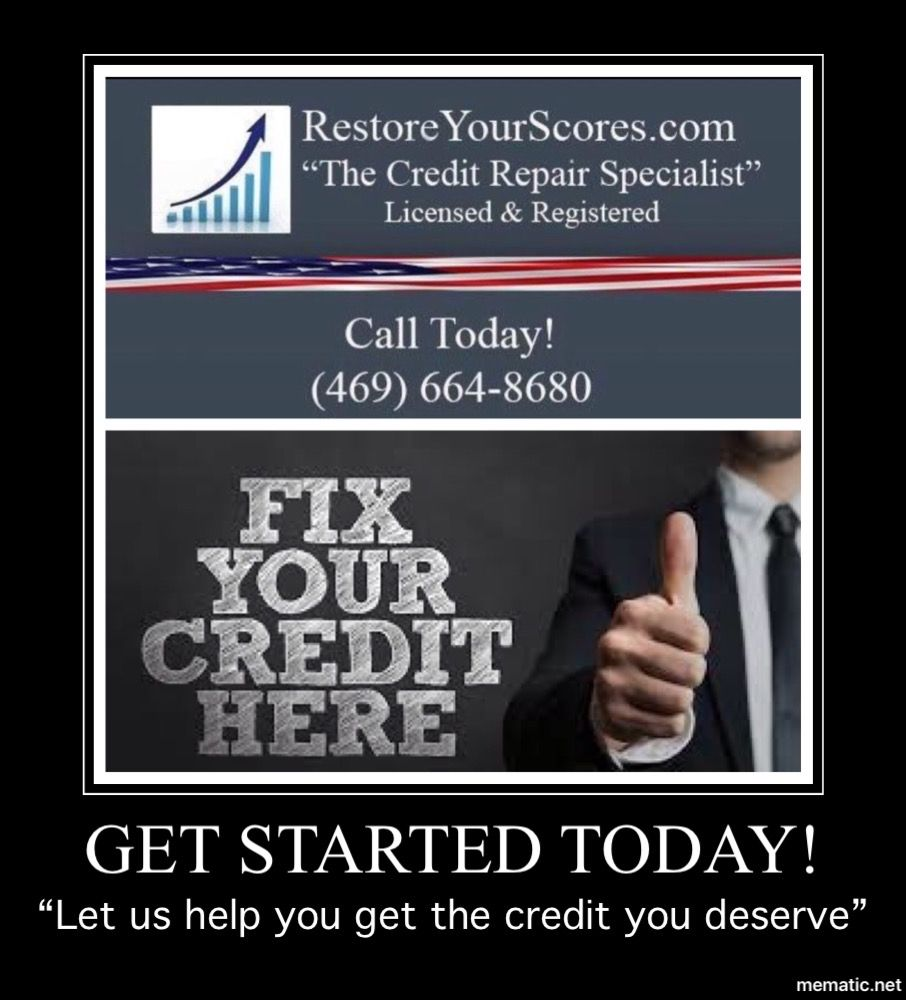Let us help you get the credit you deserve!  #creditrepair #credit #creditrestoration #creditscore #creditrepairservices #tradelines #goodcredit #financialfreedom #money #badcreditpic.twitter.com/iXM3HwTzs1