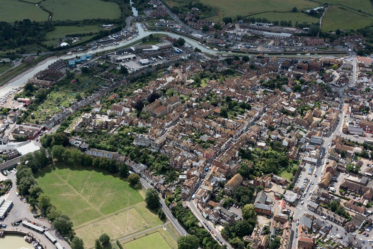 Rye aerial image - East Sussex UK #Rye #EastSussex #aerial #aerialphotography #Nikon