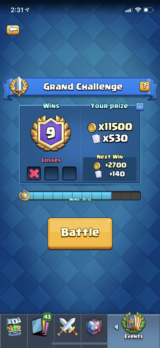Just 3 more wins away from winning my first gc. Clash gods plz be nice 😫