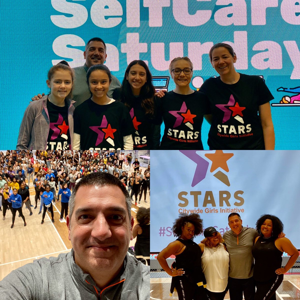 My daughter Olivia & I along with @alvarezmarsal are so proud to support @PowerPlayNYC & #StarsCGI on #selfcaresaturday - special thanks to our host @Nike along with @IamPrettyBig for such a great event! @Vsantora1 #givingback #doingwellanddoinggood https://t.co/lODmC242RH