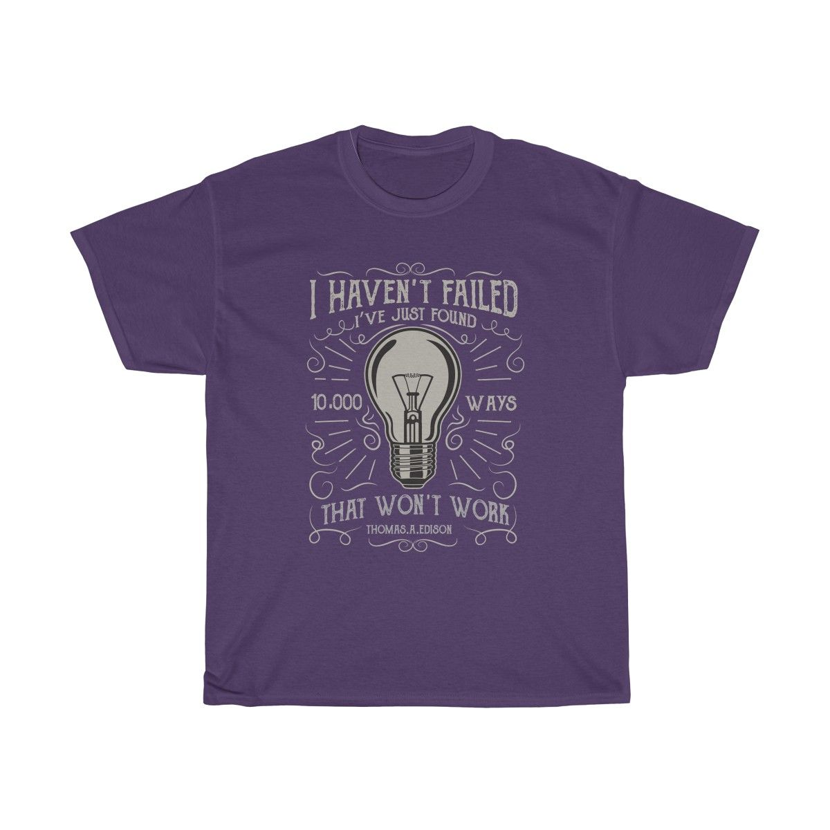 """""""I haven't failed, I've just found 10,000 ways that won't work."""" - Thomas Edison  https://buff.ly/2Phr0vY  #shirts #tees #teesplosion #teesplosions #tshirts #teeshirts #coolshirts #newshirts #newdesigns #tshirtdesigns #apparel #appareldesign #customshirts #appareldesigner #shoppic.twitter.com/RB0llpLOYG"""