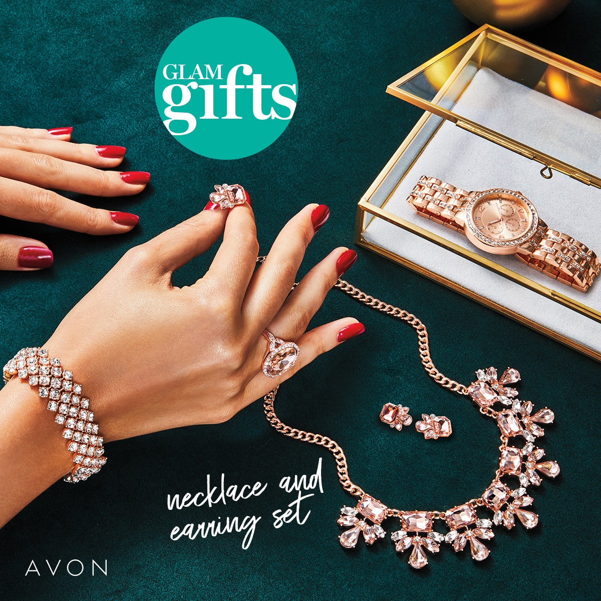 #Blushing_Statement_Stretch_Bracelet. #Fall_in_love at first #blush with our #rose_goldtone #stretch_bracelet!! #holiday #gifts #family #friends #bossbabe #avonrep #Glam_Gifts