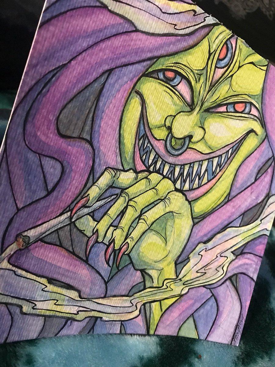 Dreadheaded Creep  I have this original watercolor up for sale in my shop  link is in my bio.   #watercolor #watercolorpainting #art #creepyart #weirdart #stonerart #artwork #illustration #darkartpic.twitter.com/grxHqSJR4n