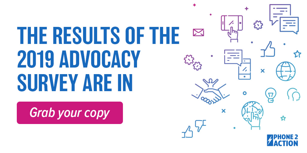 46% of #advocacy pros say they send #advocacy communications once a month or even less frequently. 8% say they only advocate when there's a crisis. Learn more in the 2019 Advocacy Survey. See the highlights ➡️https://phone2action.co/advocacy-survey-968ff …  #associations #nonprofits
