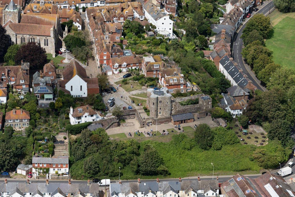 Rye Castle - Ypres Tower in Rye - East Sussex aerial image #RyeCastleMuseum #Rye #Castle #EastSussex #aerial #aerialphotography #Nikon