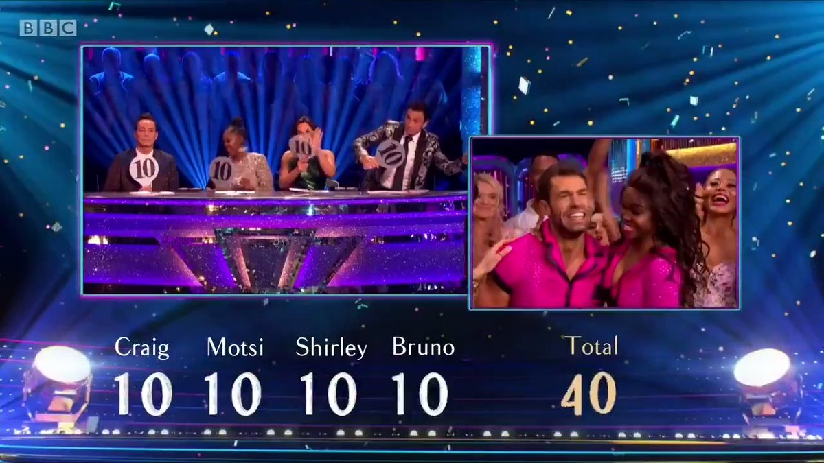 What a high scoring #StrictlyFinal. Two perfect scores for Karim and Amy and a 40 for Kelvin and Otis Showdance