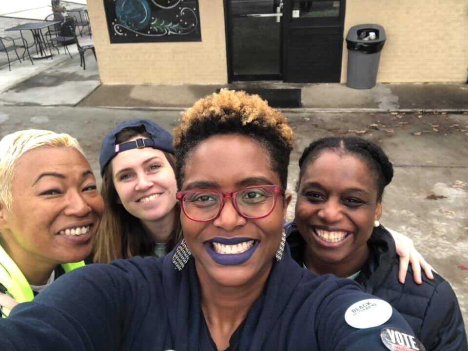 Today was a good day. I canvassed w/ my faves, learned my sister-mentor was purged from the voting rolls, and made sure elder folks in my family weren't supporting Biden. It's only 4:30. Going to watch cheesy holiday movies and write some words about rampant voter suppression.