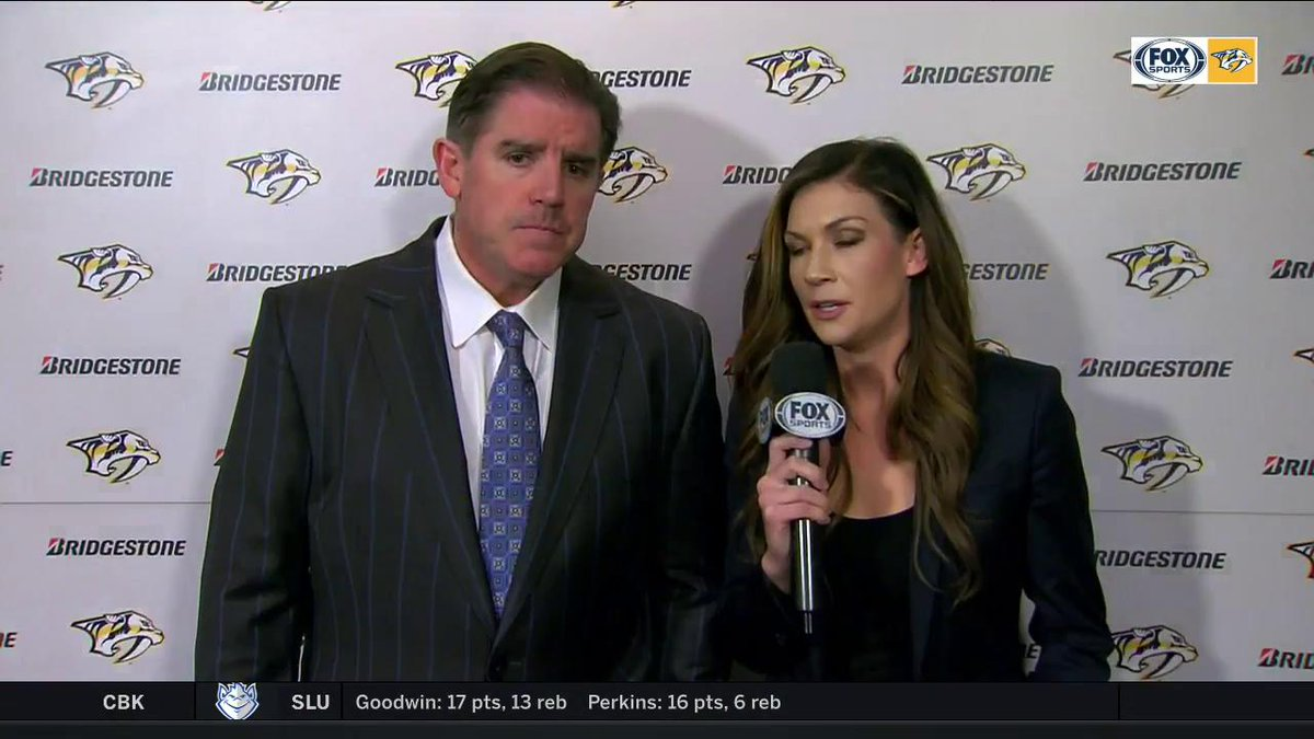 I was expecting more. I dont think we invested enough in the game tonight. Thats the name of the game in life. You get out of it what you put into it and I just dont think we invested enough - HC Peter Laviolette chats w/ @KaraHammer after tonights outing. WATCH   #Preds