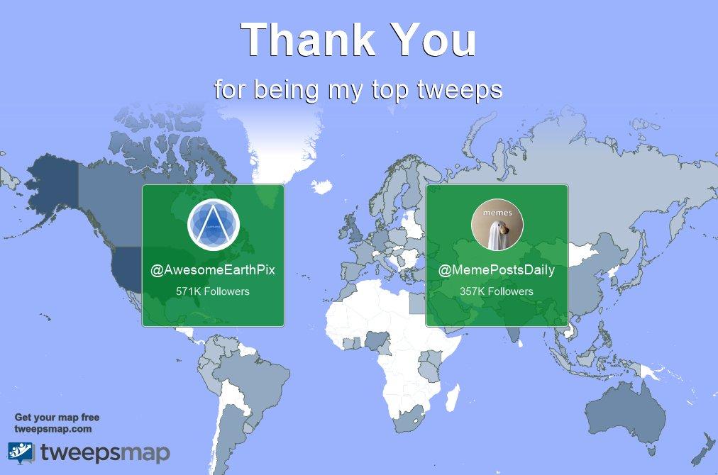 Special thanks to my top new tweeps this week @AwesomeEarthPix, @MemePostsDaiIy @kailoedu