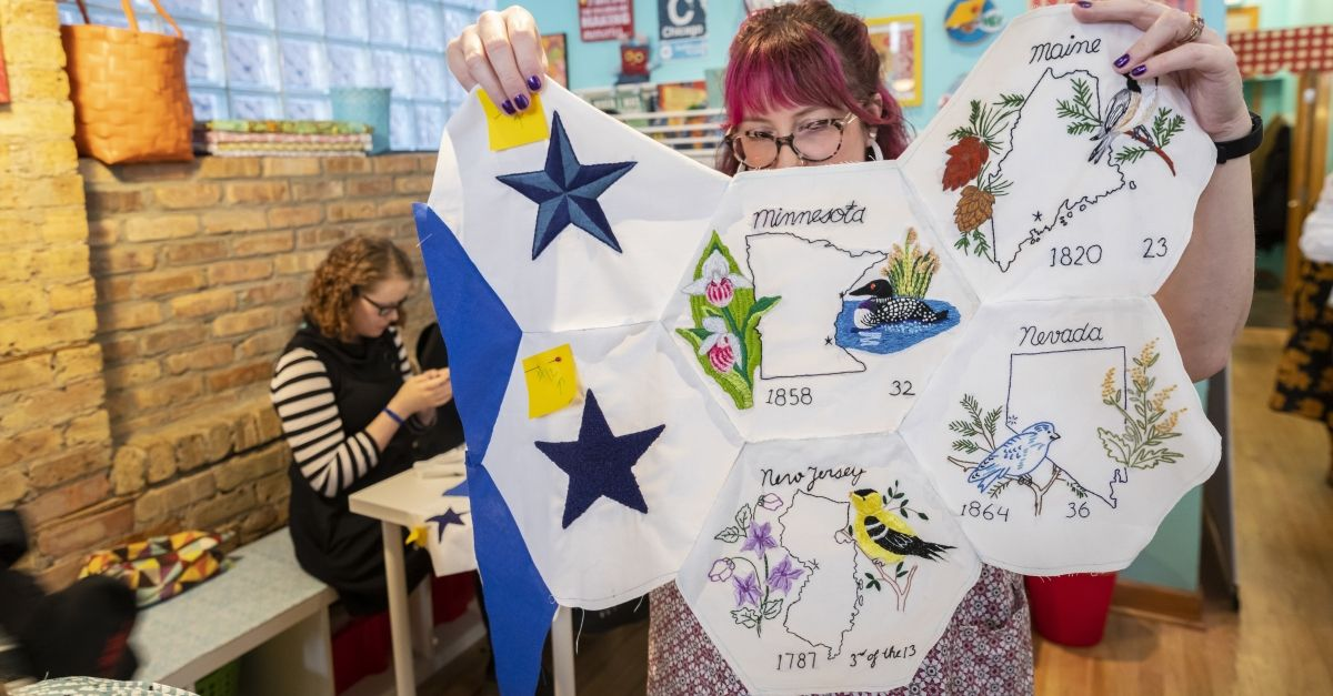 More than 100 volunteers from across the country wanted to help Shannon Downey finish the quilt started by Rita Smith, a 99-year-old woman who died earlier this year.  https://buff.ly/2YAeZ7D