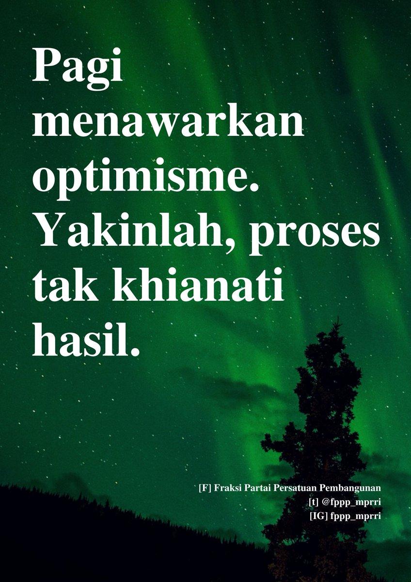 Selamat pagi. Pagi selalu menawarkan optimisme. Yuk, nikmati setiap proses dan capai keberhasilan. _________________ #FraksiPPPMPR  #PartaiPersatuanPembangunan #ArwaniThomafipic.twitter.com/ZzIwSMsUu7