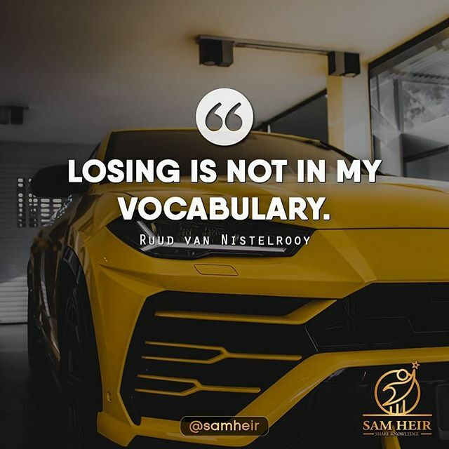 #losing is not in my #vocabulary .  For Your Daily Dose of Motivation and Inspiration!! Like our content & Hit that follow button!  Follow @samheir Follow @samheir  Follow @samheir  #igers #motivationalquotes #success #daily #inspiration #followforfollowback  #business #mark…