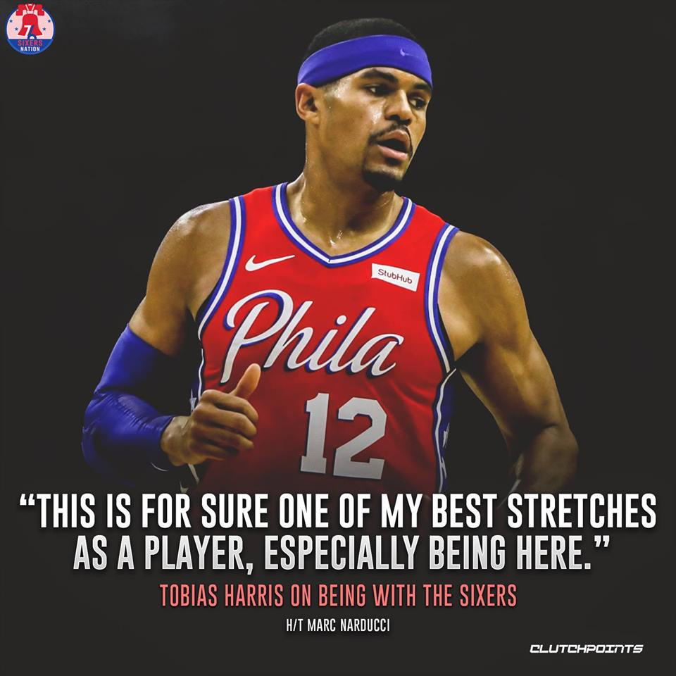 """""""I know when I am aggressive and get things in a flow, I am a very hard player to guard. I just look to keep it up."""" - Tobias Harris #Sixers #PhilaUnite"""