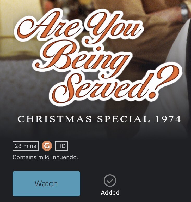 #AreYouBeingServed from 1974 on #BritBox in HD. Really? https://t.co/8cu2K3YWkc