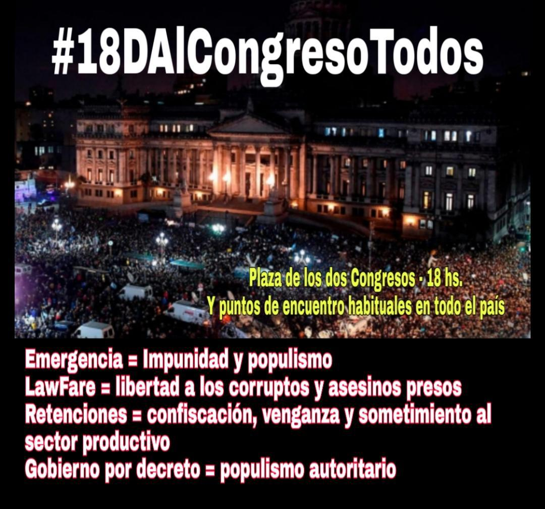 #18DAlCongresoTodos #FueraComunismoDeAmerica #FueraEvoDeArgentina  #fueragrupodepuebla  #fueraforodeSaoPaulo https://t.co/MAs4YlASZI