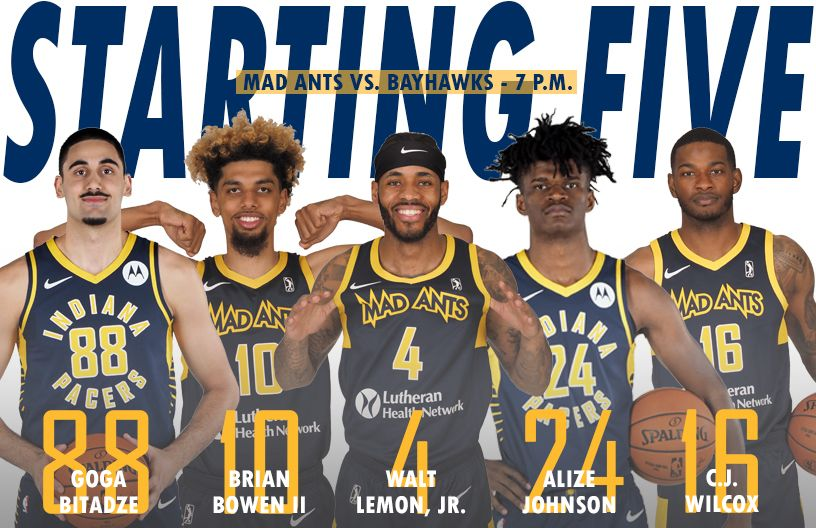 Switching things up for Pacers night💙💛Tonight's starting5️⃣  #WeAreOne