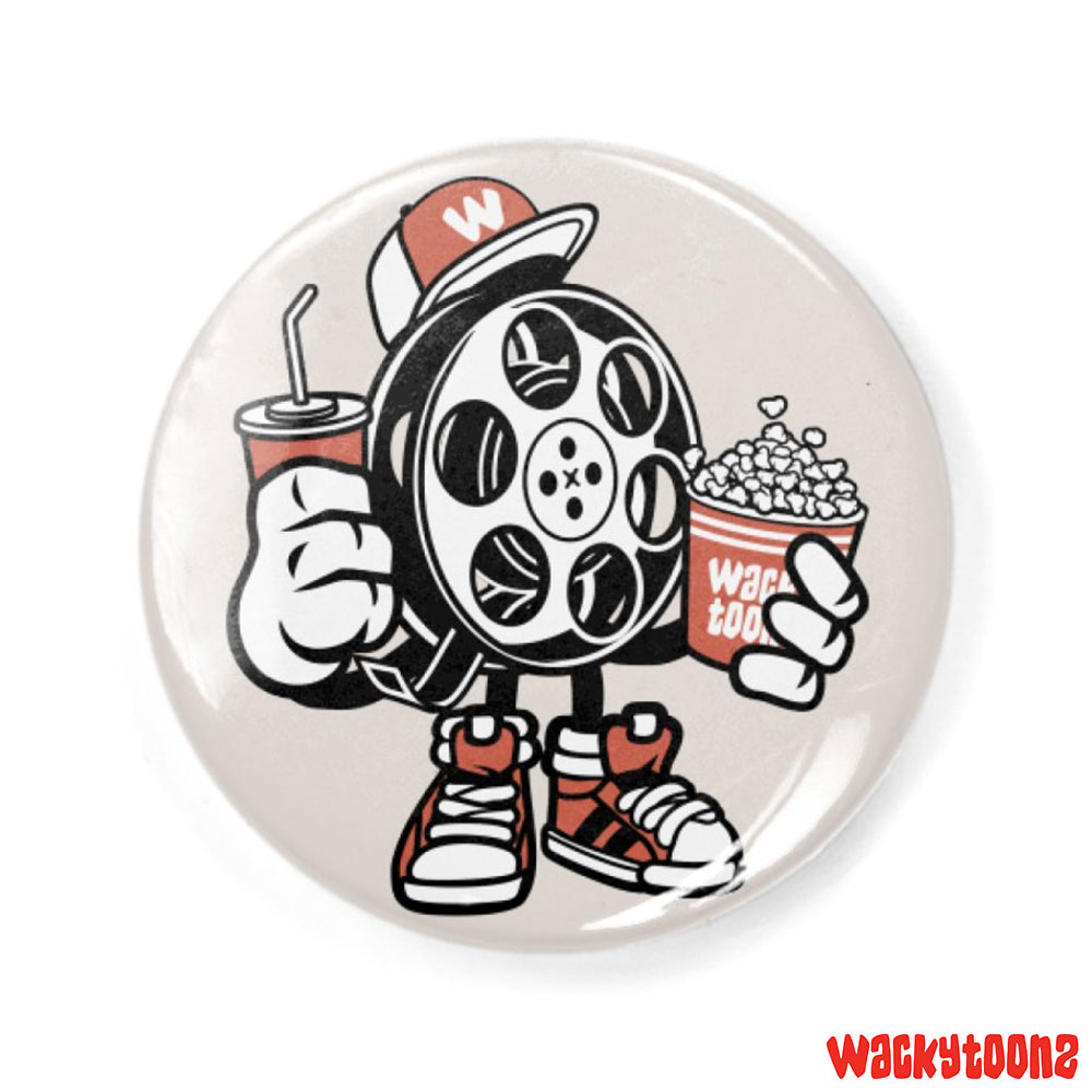 "Movie Night Button, Available in 1.25"" and 2.25"" sizes.   