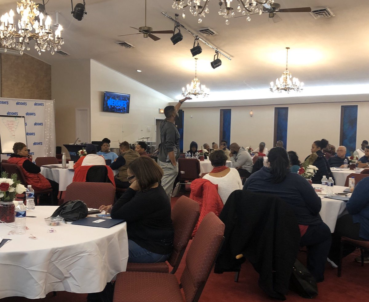 A day of celebrating our #wins and getting equipped for 2020 at The Heights annual #LeadershipRetreat — #go2heights #leadership #training #vision #ministry #dmvchurch