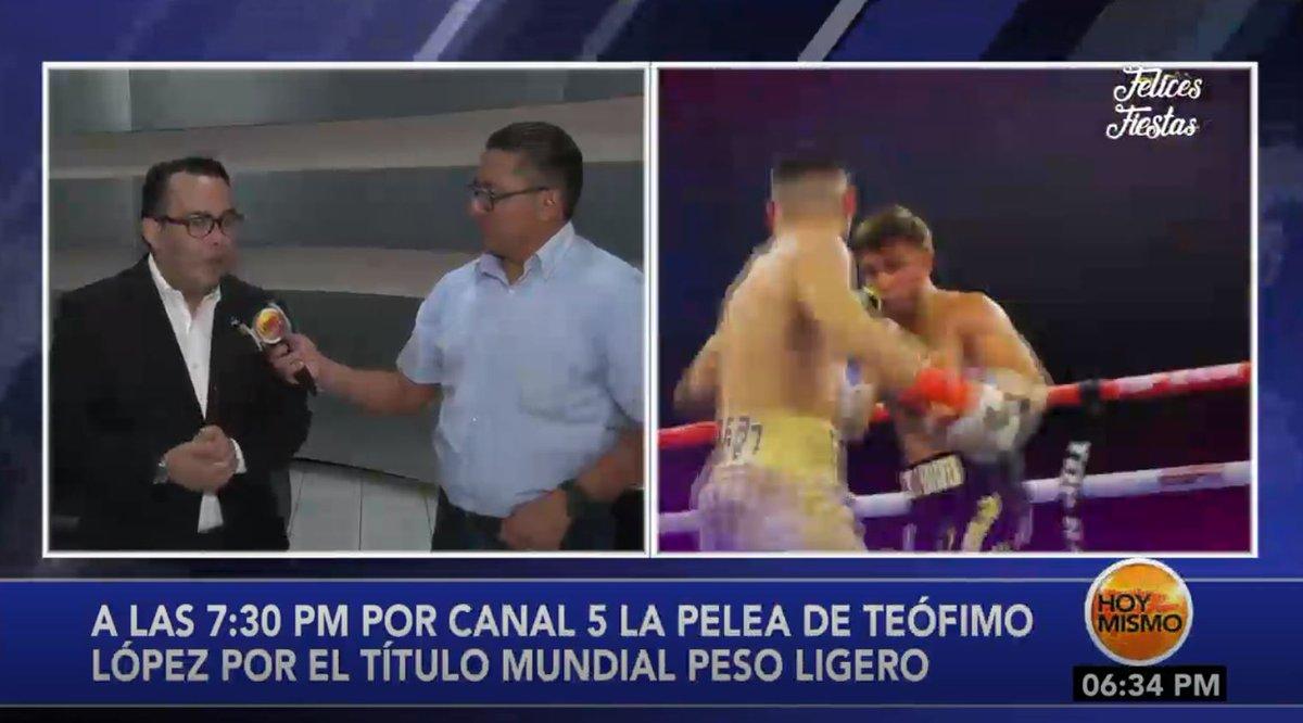 [𝗘𝗡 𝗩𝗜𝗩𝗢] 🔴 | En #HoyMismo #FindeSemana, A las 7:30 p.m., por Canal 5, la pelea de Teófimo López por el título mundial de peso ligero. Estamos EN DIRECTO por la señal de @TsiHonduras  y