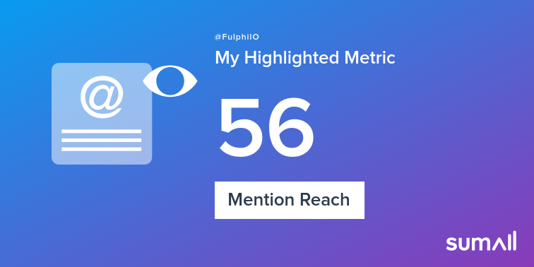 My week on Twitter 🎉: 7 Mentions, 56 Mention Reach, 21 New Followers. See yours with sumall.com/performancetwe…