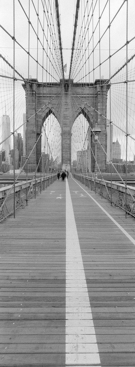 Brooklyn Bridge XPan w/ 30mm f5.6 / Ilford HP5+ #believeinfilm #XPan #panorama #filmisnotdead #verticalpano