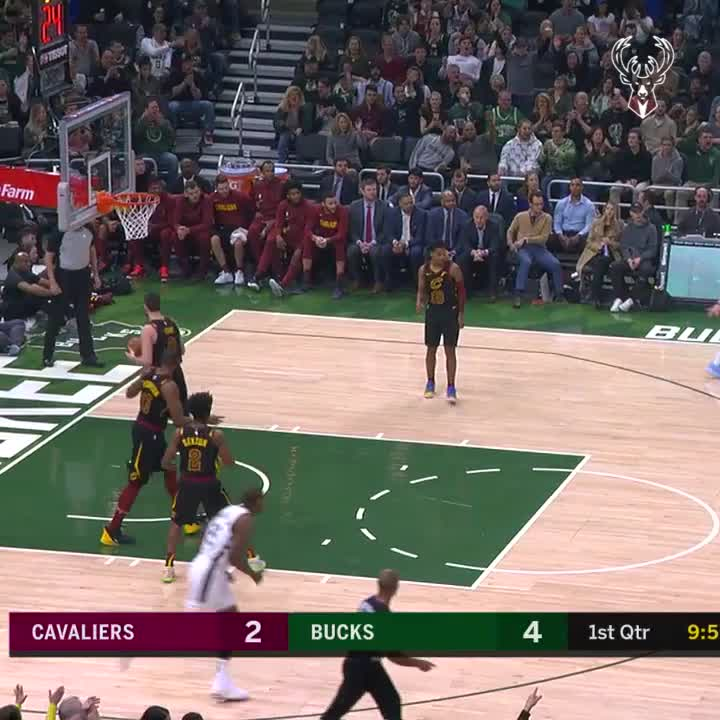 First Giannis three attempt...   SPLASH.