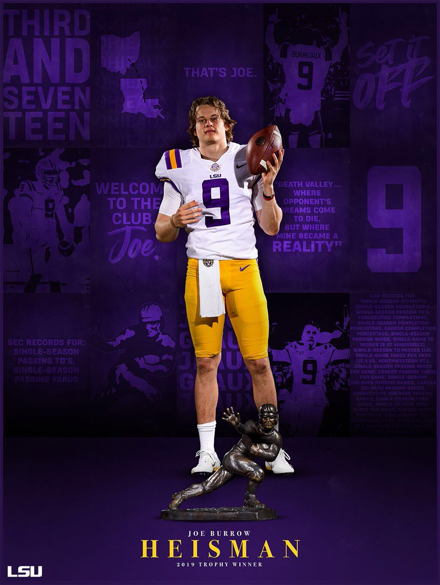 @LSUfootball's photo on Heisman