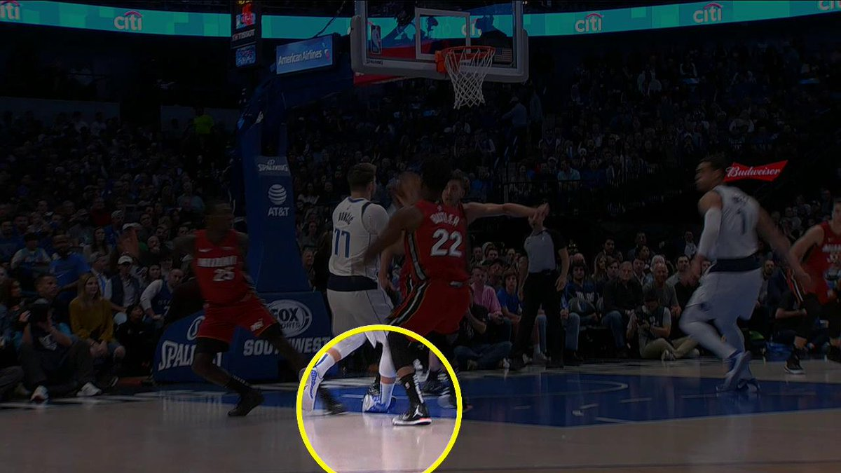 X-rays on Luka's ankle came back negative, but he has been ruled out the remainder of the game.  (via @FOXSportsHEAT)