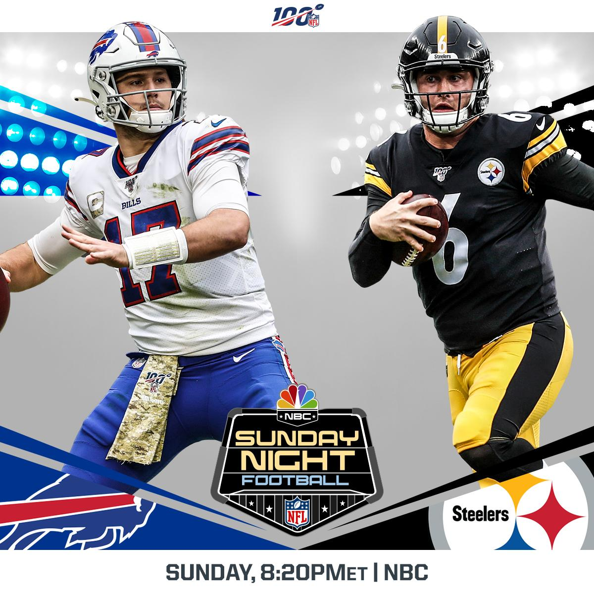 A battle between the current AFC Wild Cards...  And it's going down on SUNDAY NIGHT FOOTBALL! 🍿  📺: #BUFvsPIT -- TOMORROW 8:20pm ET on NBC 📱: NFL app // Yahoo Sports app